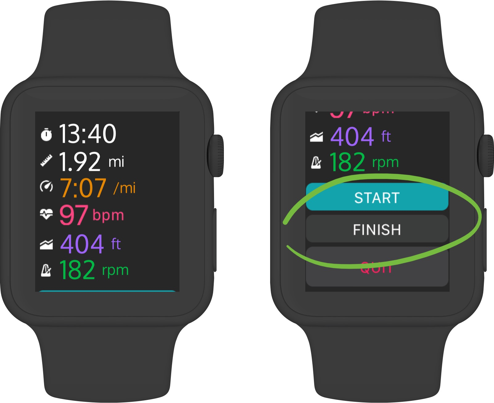 Apple Watch x Trackster App