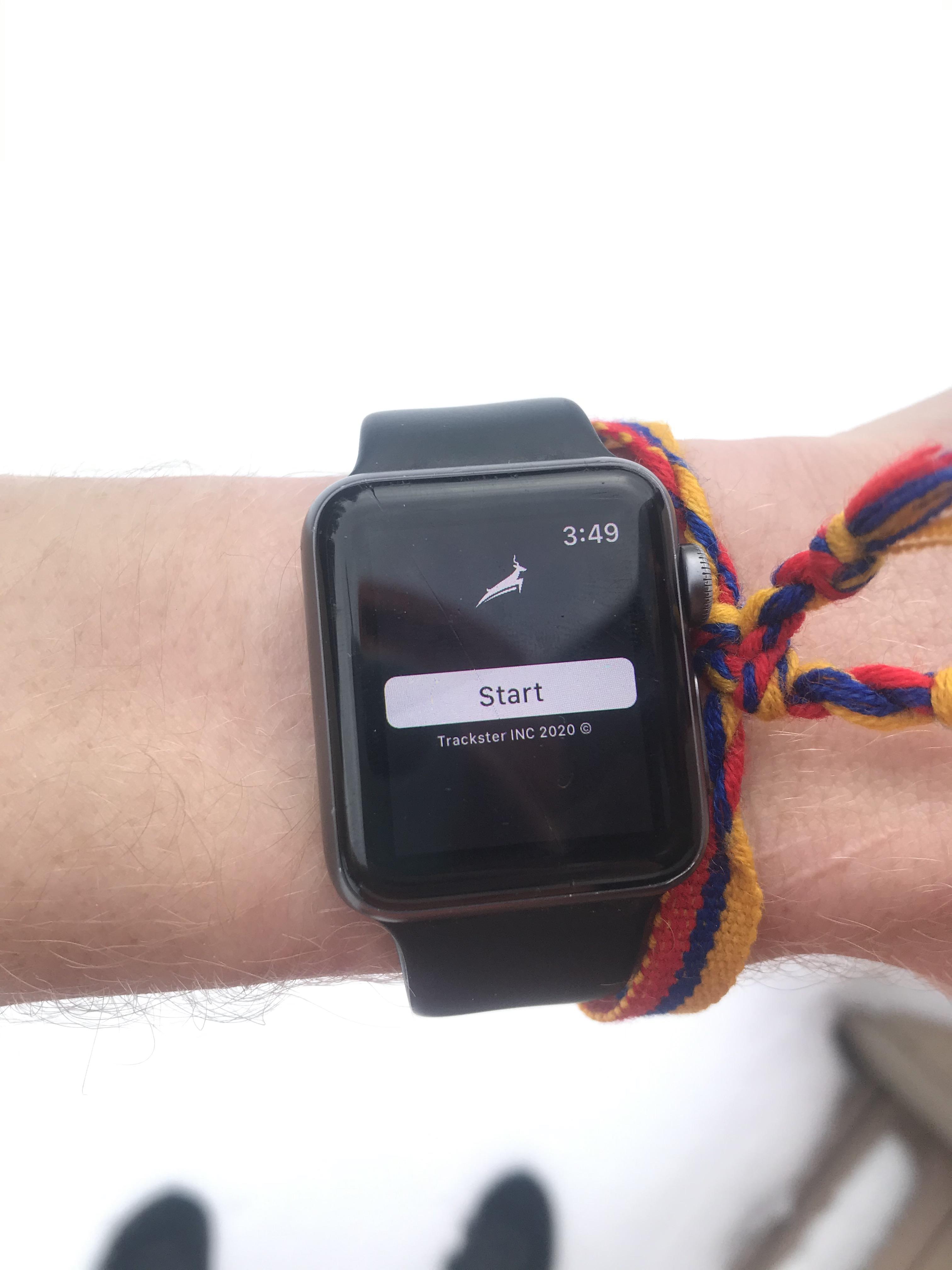 Apple Watch x Trackster App